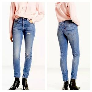 Levi's Altered 501 Skinny Button Fly Jeans